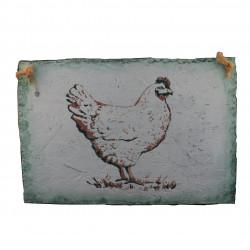 Cindre décoratif poule