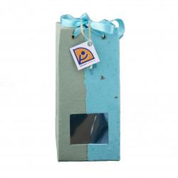 Sachet de confiture vert/bleu