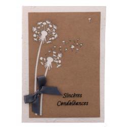 Carte de condoléances...